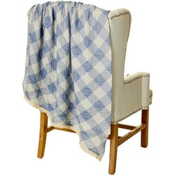 Mod Lifestyles Plaid Print Throw