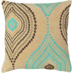 Mod Lifestyles Ogee Beaded Decorative Pillow