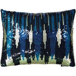 Mod Lifestyles Sequin Skyline Decorative Pillow