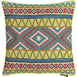 Mod Lifestyles Beaded Geometric Decorative Pillow