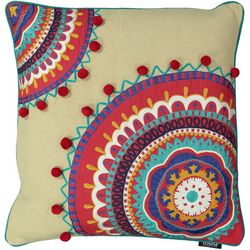 Mod Lifestyles Bohemian Embroidered Decorative Pillow