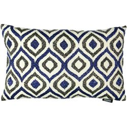 Mod Lifestyles Blue Collection Ogee Beaded Lumbar Pillow