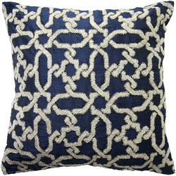 Mod Lifestyles Embroidered Link Decorative Pillow