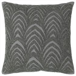 Mod Lifestyles Beaded Scallop Decorative Pillow