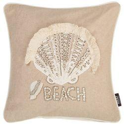 Mod Lifestyles Jeweled Scallop Shell Decorative Pillow