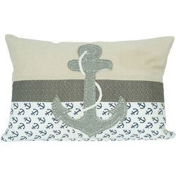 Pisces Global Embroidered Anchor Decorative Pillow