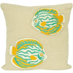 Pisces Global Embroidered Fish Decorative Pillow