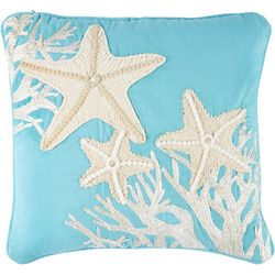 Pisces Global Embroidered Starfish Decorative Pillow