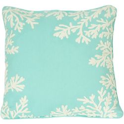 Pisces Global Embroidered Coral Decorative Pillow