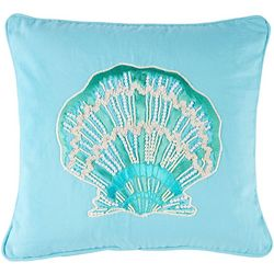 Pisces Global Embroidered Sea Shell Decorative Pillow