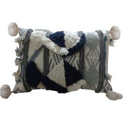 Pisces Global Pom Pom Decorative Pillow