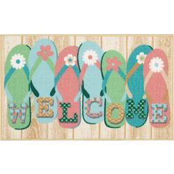 Nourison Flip Flop Welcome Accent Rug