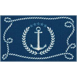 Nourison Rope and Anchor Accent Rug