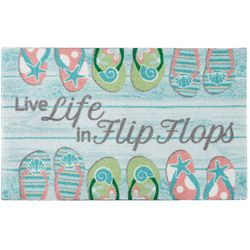 Nourison Enhance Live Life In Flip Flops Accent