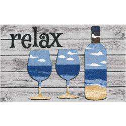 Nourison Enhance Relax Wine Accent Rug