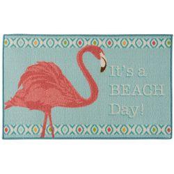 Nourison Beach Day Flamingo Accent Rug