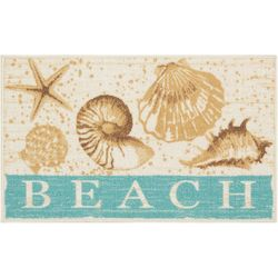 Essential Elements Beach Shells Accent Rug