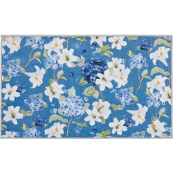 Nourison Floral Blue Rug