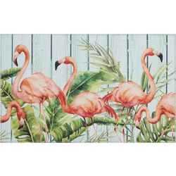 Nourison Watercolor Flamingo Accent Rug