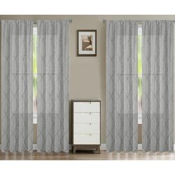 Laura Ashley 4-pc. Winston Embroidered Curtain Panel Set