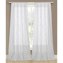 Beatrice 2-pk. Vine Embroidery Curtain Panels