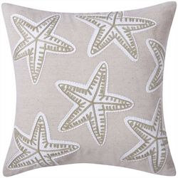 Victoria Classics Starfish Embroidered Decorative Pillow