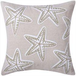 Victoria Classics Starfish Embroidered Decorative Pillow