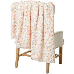 Northpoint Trading Etymology Watercolor Floral Velvet Throw