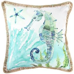 Jordan Manufacturing Sparkly Seahorse Decorative Pillow