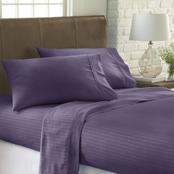 Home Collections Premium Striped Embossed Sheet Set