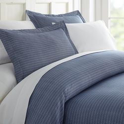 Home Collections Premium Soft Blue Diamond Duvet Cover Set