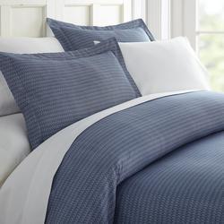 Premium Soft Blue Diamond Duvet Cover Set