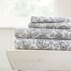 Home Collections Premium Ultra Soft Coarse Paisley Sheet Set