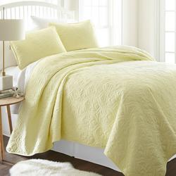 Premium Soft Damask Quilted Coverlet Set