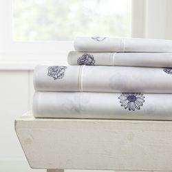 Home Collections Premium Ultra Soft Indigo Flowers Sheet Set