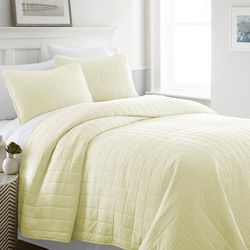 Home Collections Premium Soft Square Quilted Coverlet Set