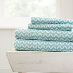 Home Collections Premium Ultra Soft Puffed Chevron Sheet Set