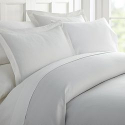 Home Collections Premium Soft Pinstriped Duvet Cover Set