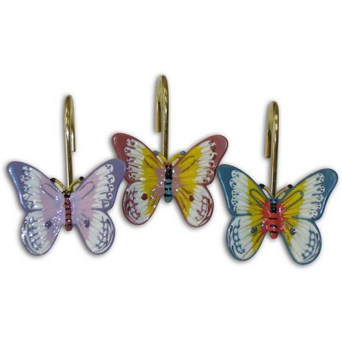 Lenox Butterfly Meadow 12 Pc Shower Curtain Hooks