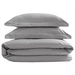 Elite Home Silky Soft Stripe Duvet Cover Set