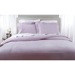 Elite Home Soft Washed Solid Percale Duvet Cover Set