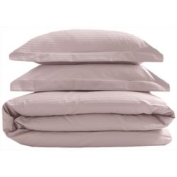 Elite Home Silky Soft Stripe Duvet Cover Set