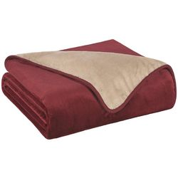 Elite Home All Seasons Reversible Plush Blanket