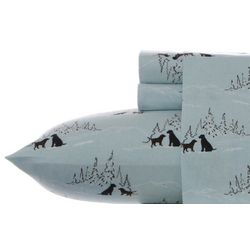 Eddie Bauer Dog Friends Flannel Twin Sheet Set
