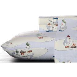 Eddie Bauer Skating Penguin Flannel Twin Sheet Set