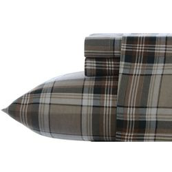 Eddie Bauer Edgewood Plaid Flannel King Sheet Set