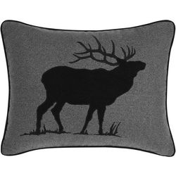Eddie Bauer Elk Charcoal Throw Pillow