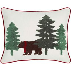 Eddie Bauer Bear Scene Dark Pine Throw Pillow