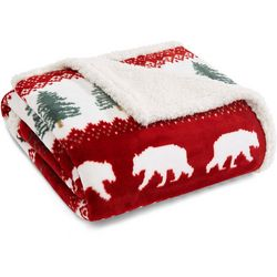 Eddie Bauer Grizzly Peak Sherpa Throw Blanket
