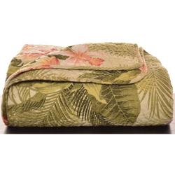 Tropical Orchid Throw Blanket